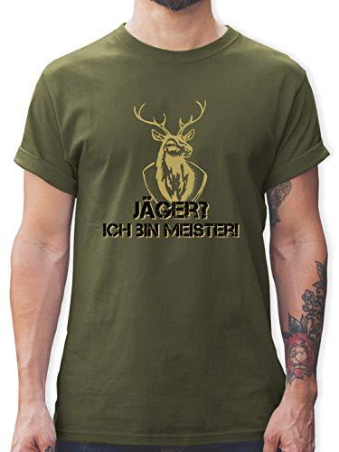 Après Ski - Jäger? Ich Bin Meister! - S - Army Grün - Logo Tshirt Herren - L190 - Tshirt Herren und Männer T-Shirts