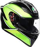AGV K1 Qualify Lima Casco De Moto De Cara Completa Tamano L