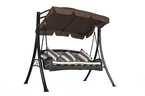 GRASEKAMP kwaliteit sinds 1972 schommelbank Portofino polyrotan relax ligstoel schommel ligstoel