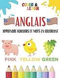 ANGLAIS: Apprendre couleurs et mots en coloriant - Utiliser sa mémoire visuelle pour retenir les couleurs et le vocabulaire en Anglais (animaux, ... s'entraîner - Enfants dès 5 ans et adultes