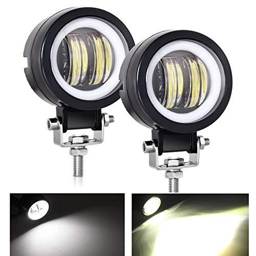 nifeida 3' Motorcycle Led Headlight with High Beam and Round LED Angel...