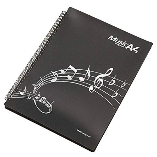 milisten Piano Partituurmap Muziekmap Voor Muziekbladen Beschermer Bestand Papieren Documenten Opslagmap A4 Formaat Met 20St Binnenpagina's (Zwart)