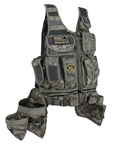 Special Operations Tool Gear SF-18 DELTA (The Medic) Tactical Tool Vest (Digital Camo)