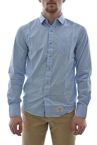 L chemise superdry dobbie laundered cut collar shirt bleu