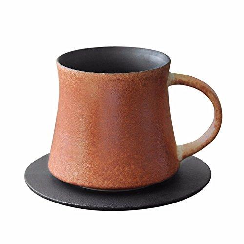 ZPSPZ Mug À Café en Céramique Japonais Créatrice Rétro,Orange