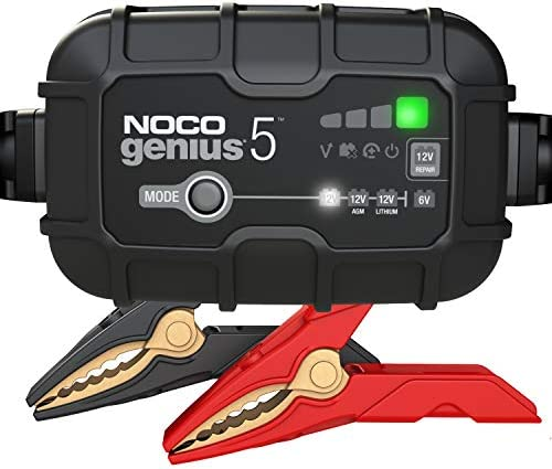NOCO GENIUS5 5 Amp Fully Automatic Smart Charger 6V And 12V Battery Charger Battery Maintainer product image