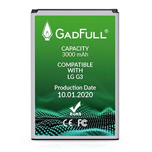 GadFull Batería de reemplazo para LG G3 | 2020 Fecha de producción | Corresponde al Original BL-53YH | Compatible con LG G3 D830 | D851 | LS990 batería de Repuesto
