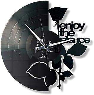 """DISC´O´CLOCK Disc""""O""""Clock Wanduhr aus Schallplatten LP 33 leise Enjoy The Silence, Geschenkidee im Design Depeche Mode"""