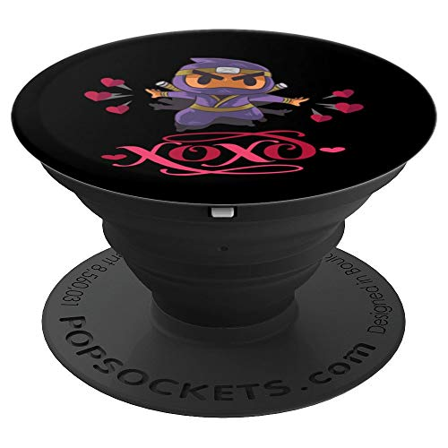 Kindness Ninja Samurai Hearts XOXO PopSockets Grip and Stand for Phones and Tablets