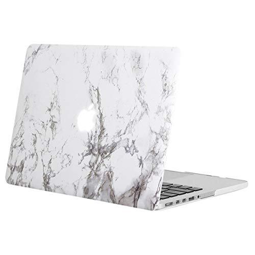 MOSISO Funda Dura Compatible con MacBook Pro 13 Retina A1502 / A1425 (Versión 2015/2014/2013/fin 2012), Carcasa Rígida Protector de Patrón de Plástico Cubierta, Mármol Blanco