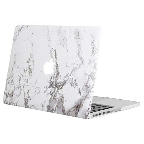 MOSISO Custodia Rigida Compatibile con MacBook PRO Retina 13 Pollici A1502/A1425 Case 2015/2014/2013/Fine 2012 Plastic Cover Copertina con Motivo on Case Cover,Bianco Marmo
