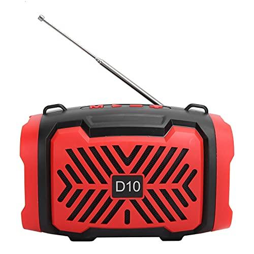 Dilwe Altavoz portátil Bluetooth V5.0, Mini Altavoz de Audio con Correa de luz, Altavoz inalámbrico USB Micro Altavoz Compatible con FM, Mini Altavoz para Viajar al Aire Libre(Rojo)