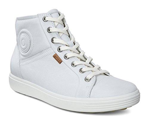 Ecco Damen SOFT7W High-Top, Weiß (White 1007), 43 EU