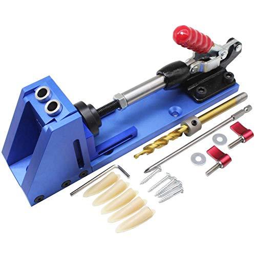 Kit de guía de carpintería más barato para carpintería, sistema de taladros inclinados, herramienta de taladro, base de brocas, sistema de agujeros de bolsillo