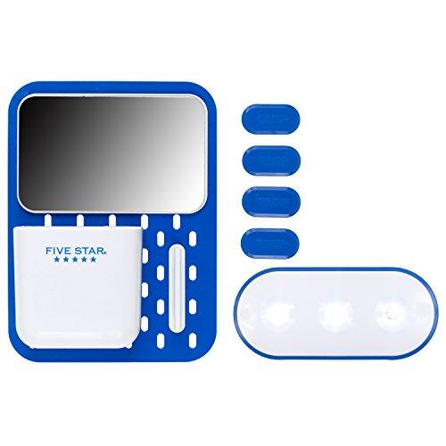 Five Star Locker Accessories, Locker Door Kit, Magnetic, Includes Light, Mirror, Storage Cup, Design Will Vary (81180)