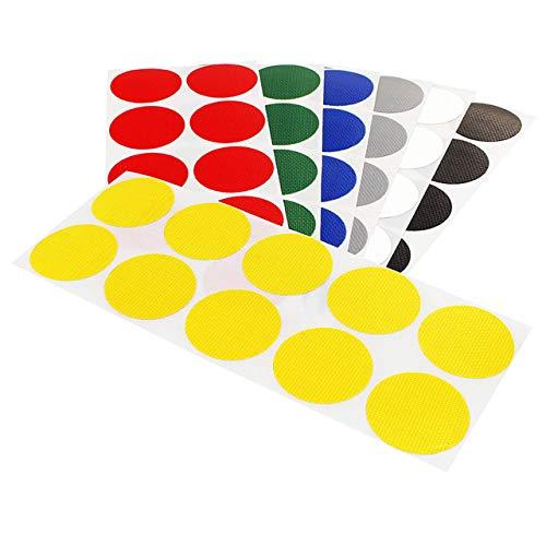 Klebepunkte farbig | 15 oder 30 mm Durchmesser | PE-beschichtete Markierungspunkte aus Gewebe | Farbe & Menge wählbar | Bunte Klebepunkte | Permanent klebend | Runde Etiketten zum Markieren & Kennzeichnen / gelb, 30 mm, 100 Stück