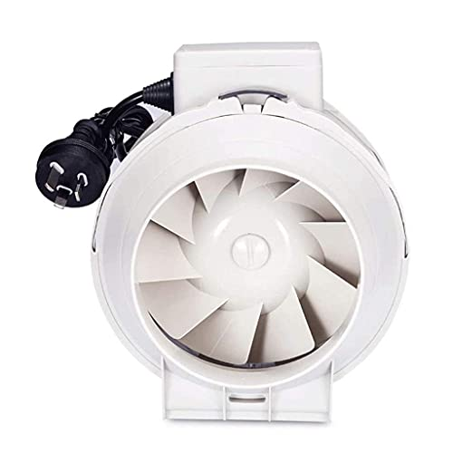 Extractor De Baño, Extractor de baño Ventilador, extractor de cocina Ventilador de ventilación con conducto, ventilador de conducto redondo Booster de ventilador de 5 pulgadas, soplador de escape Extr