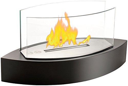 Carlo Milano Dekofeuer: Tischkamin mit Edelstahlkammer für Bio-Ethanol (Ethanol Feuer)