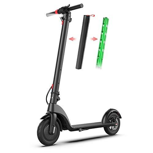 "elrofu E-Scooter ""S7"", 25 km/h, 350 Watt, 12,5 kg, herausnehmbarer Lithium-Akku, Straßenzulassung: Österreich, Elektro Roller, Elektroroller, E-Roller, Produktvideo, Schwarz"