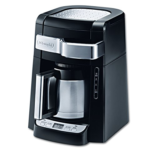 DeLonghi DCF2210TTC 10-Cup Thermal Carafe Drip Coffee Maker, Black