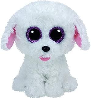 Ty Pippie Dog Plush, White, Regular