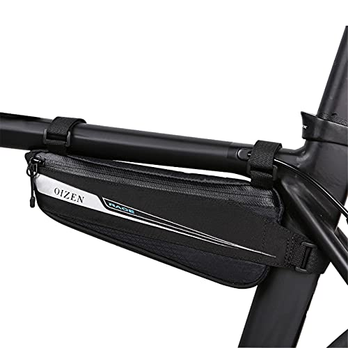 Roswheel Borsa Bici, Borsa Triangolare da Bicicletta Telaio Borsa Frontal Sacchetto per Casual/Trekking/MTB/Mountain Biking(0,6L)