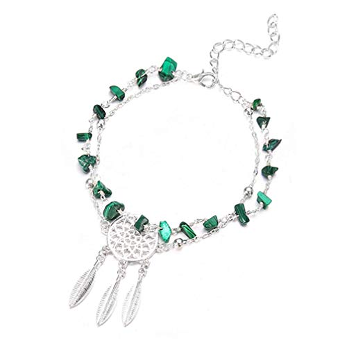 PULABO Dream Catcher Feather Charms Anklets Turquoise Foot Chain Anklet for Women Beach Jewelry SuperiorQuality and Creativetrust
