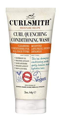 Curlsmith - Curl Quenching Conditioning Wash - Acondicionador y champú vegano 2 en 1 para pelo ondulado, rizado (64g)
