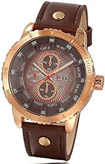 watch for men Curren hull of stainless steel Leather bracelet