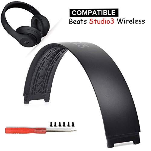 Studio 3 Stirnband Ersatz Kopfbügel Teile Kompatibel mit Beats Studio 3 Studio 2 Wireless Over‑Ear Kopfhörer. (Mattschwarz)