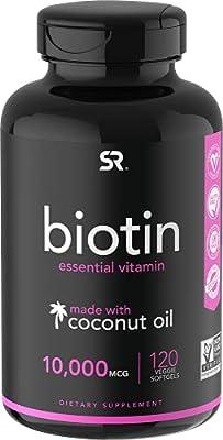 Biotin (10,000mcg) with Organic Coconut Oil