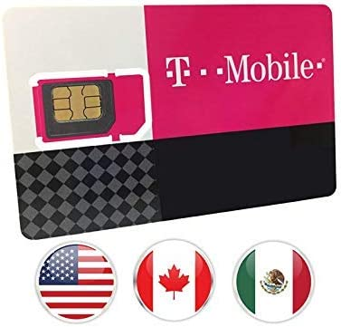 Canada Mexico and USA Prepaid SIM Card T Mobile 10GB 4G LTE Data in USA and 5GB Data in Canada product image