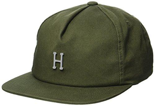 HUF Gorra Washed Metal H Strapback de Beisbol (Talla única - Verde Oliva)