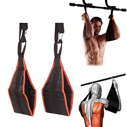 Ueasy Home Fitness gimnasio para colgar Ab Sling correas abdominales para colgar cintur/ón Chin Up Pullup Heavy Duty entrenamiento muscular apoyo cintur/ón