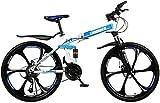Casual Plegable VTT, Bicicleta plegable de la ciudad, 30 de velocidad y 6 habló la rueda de bicicleta, bicicleta de montaña de la suspensión delantera de la bicicleta de los hombres movimiento