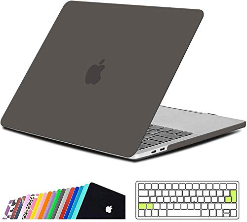 iNeseon Macbook Pro 13 Inch Case 2019/2018/2017/2016, Slim Hard Shell Protective Case and Keyboard Cover for Macbook Pro 13 With/Without Touch Bar Model A2159 A1989 A1706 A1708, Gray