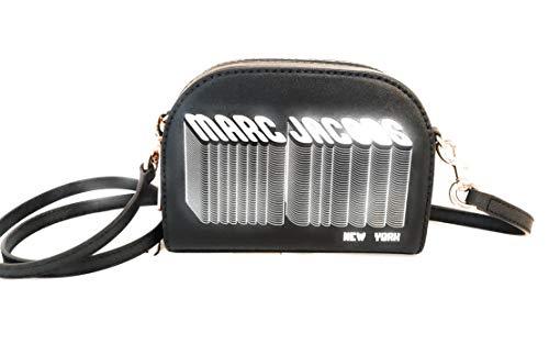 Marc Jacobs bolso de cuero negro 20x15x7cm nue