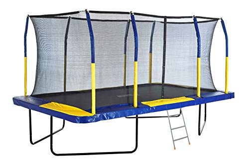 Outdoor Heights Rectangular Trampoline with Safety Pad, Enclosure Net & 3 Step Ladder – Easy to Assemble Gymnastic Trampoline 14FT 15FT 17FT - Premium/Standard