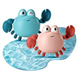 TOYANDONA 2 Stücke Kinder Aufziehspielzeug Baby Badetiere Krabbe Spielzeug Badespielzeug Badewannenspielzeug Wind Up Figur Tierfigur Aufziehfigur für Kleinkinder
