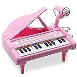 Amy & Benton Melody, Mini Juguete de Piano con 24 Teclas, Electrónico con Luces y Canciones, 36M+...