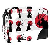Bolsa de Lavar Kendo japonés Bolso de Tocador Hombre Neceseres para Maquillaje PVC Bolsa de Cosméticos Impermeable Bolsa de Lavado Viaje 18.5x7.5x13cm