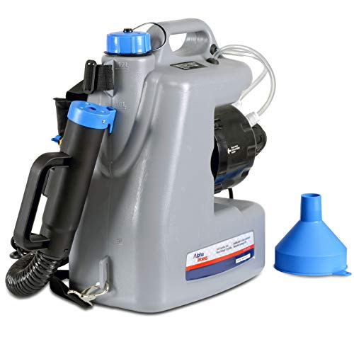 AlphaWorks Fogger Machine Disinfectant ULV Sprayer IMPROVED Corded Back Pack Mist Duster 3GAL Mist Blower Adjustable Particle Size 0-50μm/Mm