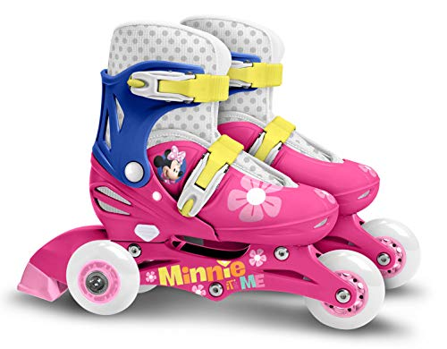 Stamp SAS Minnie regolabile Two in One 3 Wheels Skateboard Size 27 – 30 Colore Pink...