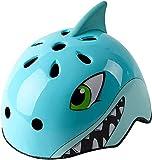 Casco para niños de 2 a 5 años, ajustable, casco de bicicleta para niños, ligero y resistente, artículo deportivo, diámetro 50 – 54 cm (tiburón azul)