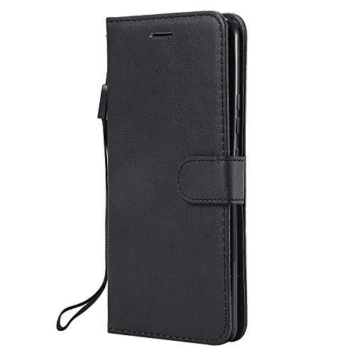 Coque pour Nokia 9 PureView Antichoc étui Rabat Cuir Case Portefeuille FineTPU Gel Bumper Slim Silicone Wallet Cover Aimant Housse pour Nokia 9 PureView - ZIKT051439 Noir