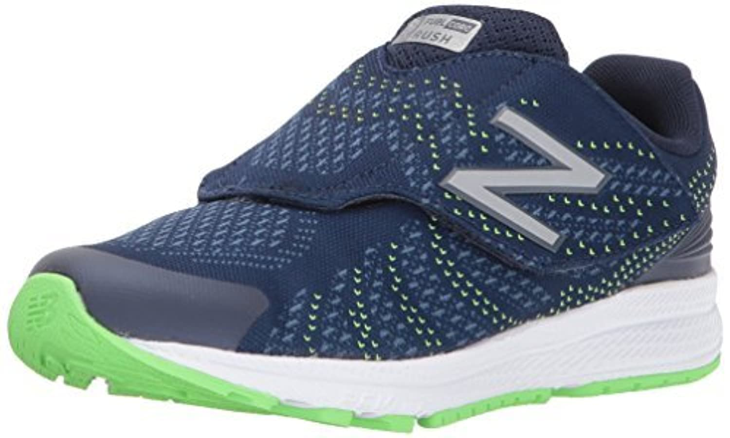 New Balance Boys' Rush V3 Hook and Loop Running Shoe Navy 10 Medium US Infant [並行輸入品]