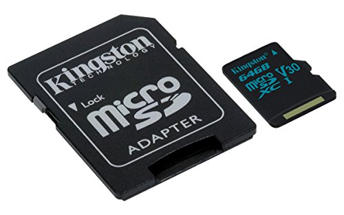 Kingston Canvas Go! 64GB microSDXC Class 10 microSD Memory Card UHS-I 90MB/s R Flash Memory...