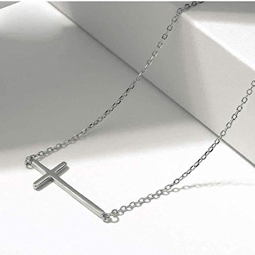 YOUZYHG co.,ltd Collar Mujer s Cruz Historia Cadena eslabón Colgante Collar