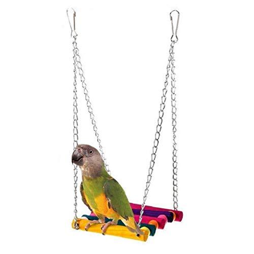 Uccelli Gioco per Animali Domestici Uccello Pappagallo Parrocchetto Budgie Cockatiel Cage Hut Bird Nest Giocattoli Amaca Swing Toy Hanging Supplies Gioco per Animali Domestici