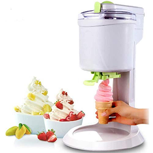 XIONGGG Mini Ice Cream Machine Automatic Household Ice Maker for Home DIY Kitchen, Best Gift for Kids, White, 1000Ml
